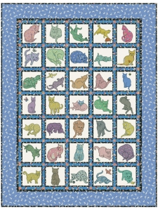 The Original Claire's Cats Quilt