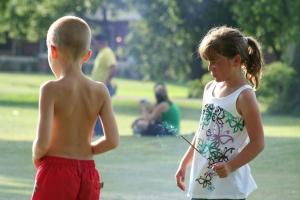 Kids and Smokebombs