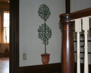 Topiary at the Top of the Stairs