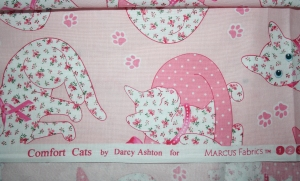 Comfort Cats by Darcy Ashton for Marcus Brothers Fabrics