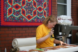 Brenda on the Longarm