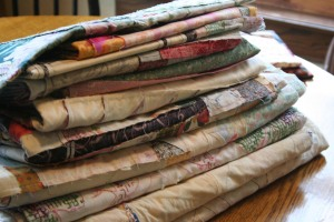 Ten Old Quilt Tops Waiting to be Finished