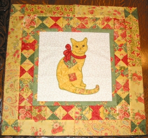 Patched Kitty Quilt Top