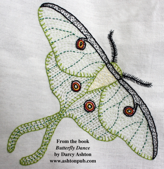 embroidered Butterflyw:words
