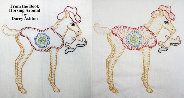Horse before & after