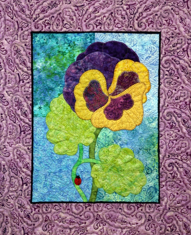 Pansy quilt small